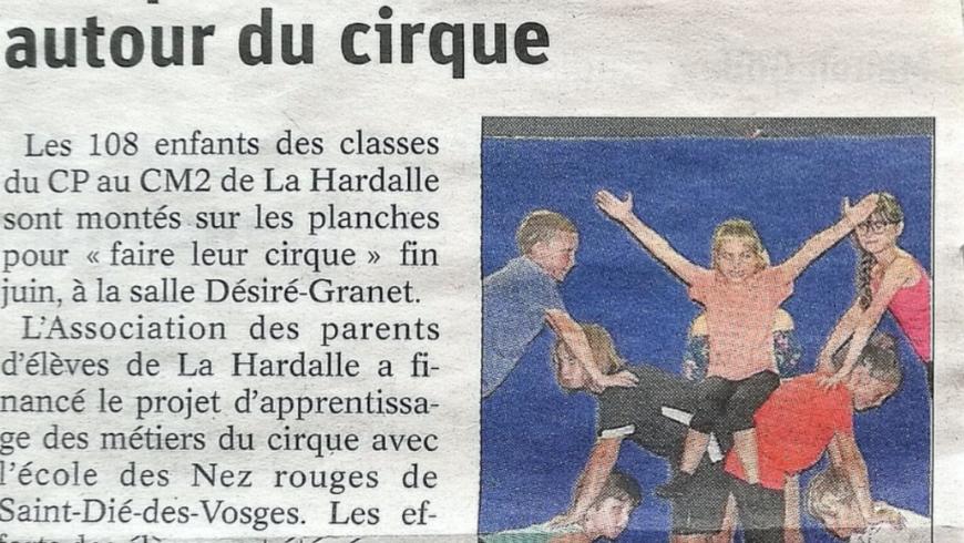Projet cirque, école de la Hardalle (Anould)